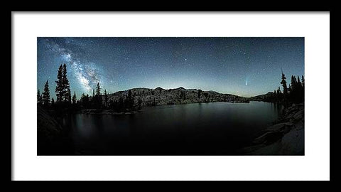 Neowise Comet over Desolation Wilderness by Brad Scott - Framed Print