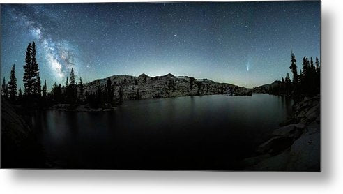 Neowise Comet over Desolation Wilderness by Brad Scott - Metal Print