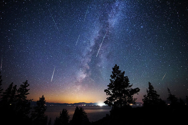 Perseid Meteor Shower From Tahoe - Art Print