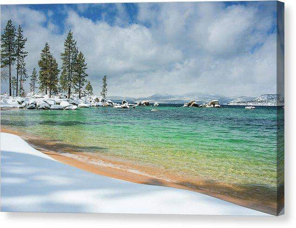 "Pristine Shores By Brad Scott - Canvas Print-10.000"" x 6.625""-Lake Tahoe Prints"