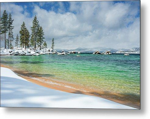 Pristine Shores By Brad Scott - Metal Print-Metal Print-Lake Tahoe Prints