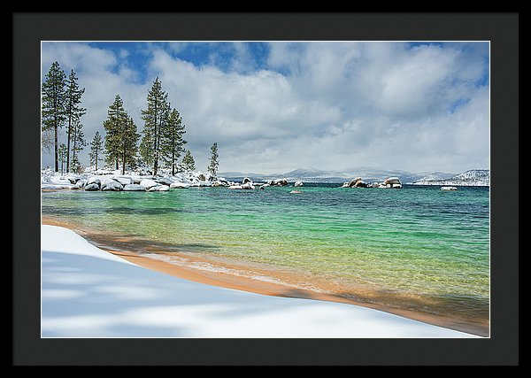 Pristine Shores By Brad Scott - Framed Print