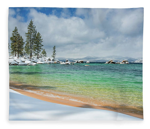 Pristine Shores By Brad Scott - Blanket