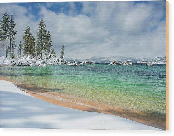 Pristine Shores By Brad Scott - Wood Print