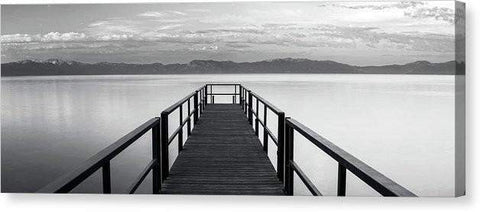 "Pure State Of Mind Lake Tahoe Pier - Canvas Print-20.000"" x 7.375""-Lake Tahoe Prints"