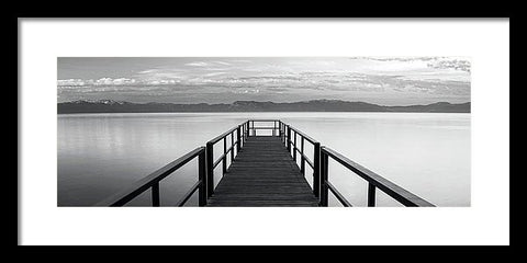 Pure State Of Mind Lake Tahoe Pier - Framed Print-Lake Tahoe Prints