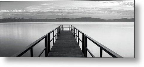 Pure State Of Mind Lake Tahoe Pier - Metal Print-Lake Tahoe Prints