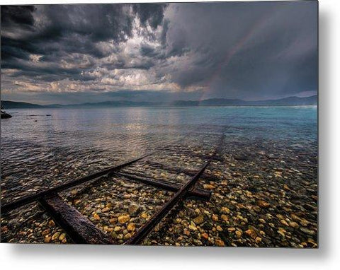 Rainbow Tracks By Mike Breshears - Metal Print