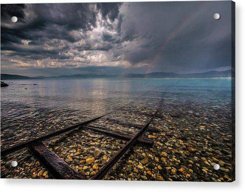 Rainbow Tracks By Mike Breshears - Acrylic Print