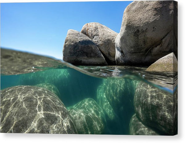 Refraction - Lake Tahoe Underwater by Brad Scott - Canvas Print
