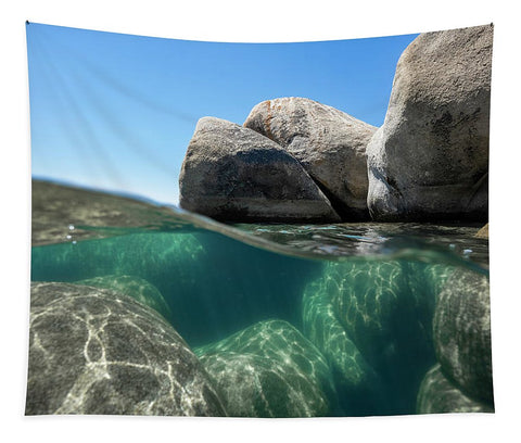 Refraction - Lake Tahoe Underwater by Brad Scott - Tapestry