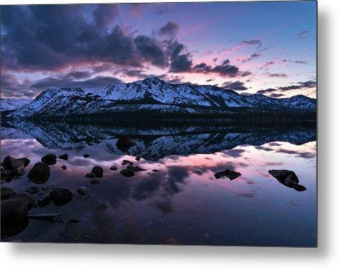 Rose Reflections By Brad Scott - Metal Print-Metal Print-Lake Tahoe Prints