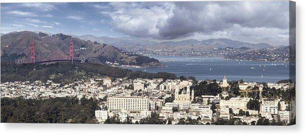 "San Francisco - Canvas Print-20.000"" x 7.375""-Lake Tahoe Prints"