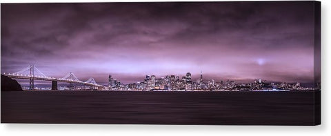San Fransisco Cityscape Panorama by Brad Scott - Canvas Print