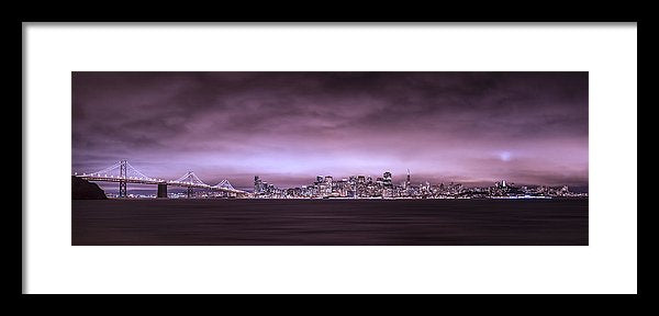 San Fransisco Cityscape Panorama by Brad Scott - Framed Print
