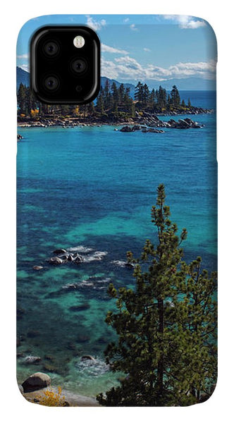 Sand Harbor Lookout By Brad Scott  - Phone Case