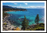 Sand Harbor Lookout By Brad Scott  - Framed Print