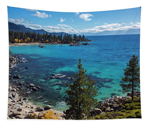 Sand Harbor Lookout By Brad Scott  - Tapestry