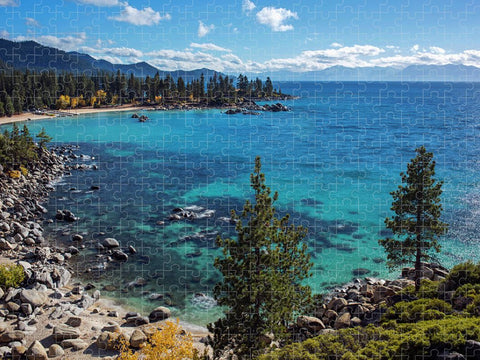Sand Harbor Lookout by Brad Scott  - Puzzle