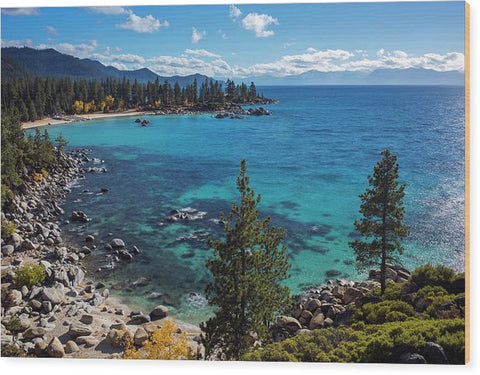 Sand Harbor Lookout By Brad Scott  - Wood Print