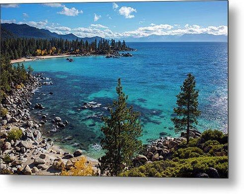 Sand Harbor Lookout By Brad Scott - Metal Print-Metal Print-Lake Tahoe Prints