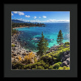 Sand Harbor Lookout By Brad Scott - Square - Framed Print