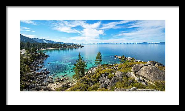 Sand Harbor Panoramic lookout - Framed Print
