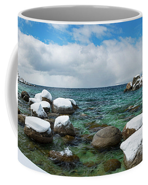 Sand Harbor Winter Panorama By Brad Scott - Mug