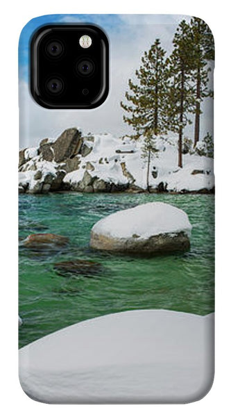 Sand Harbor Winter Panorama By Brad Scott - Phone Case