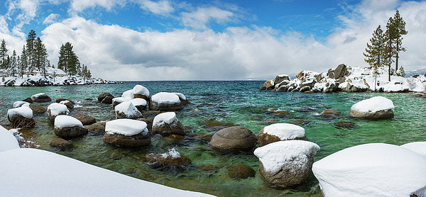 Sand Harbor Winter Panorama By Brad Scott - Art Print