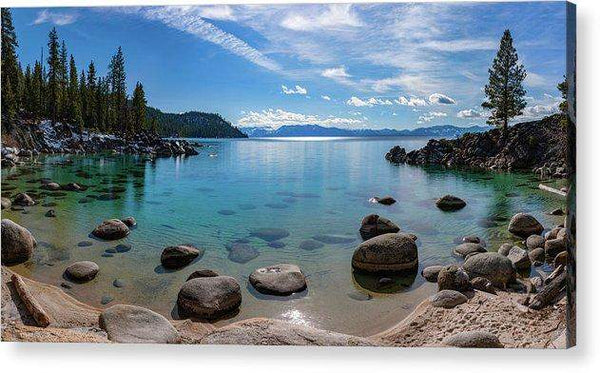Secret Cove Aquas By Brad Scott - Acrylic Print