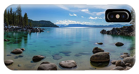 Secret Cove Aquas By Brad Scott - Phone Case-Phone Case-IPhone X Case-Lake Tahoe Prints