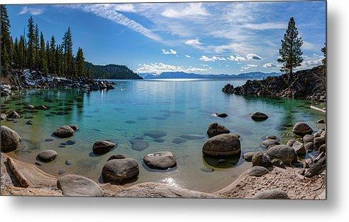 Secret Cove Aquas By Brad Scott - Metal Print-Metal Print-Lake Tahoe Prints