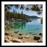 Secret Cove Through The Trees By Brad Scott - Framed Print