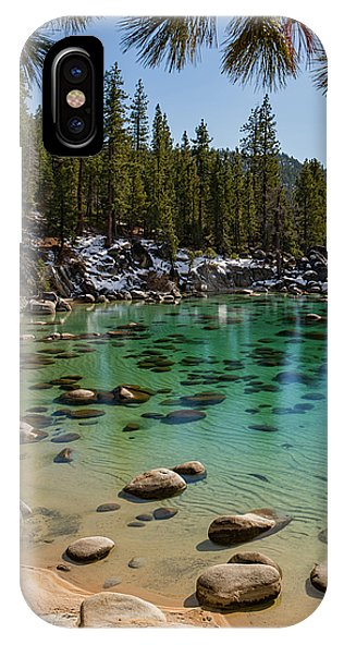 Secret Cove Through The Trees By Brad Scott - Phone Case-Phone Case-IPhone X Case-Lake Tahoe Prints