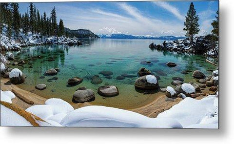 Secret Cove Winter Panorama By Brad Scott - Metal Print