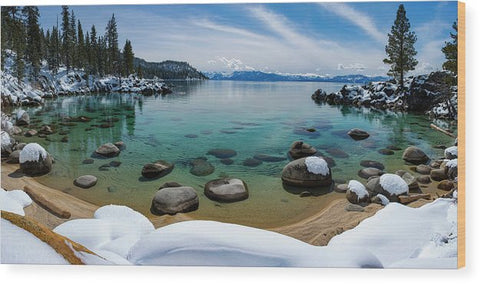 Secret Cove Winter Panorama By Brad Scott - Wood Print