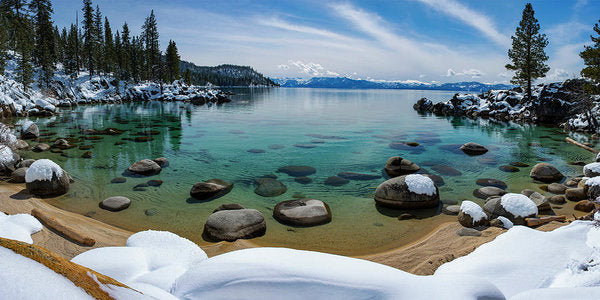 Secret Cove Winter Panorama By Brad Scott - Art Print