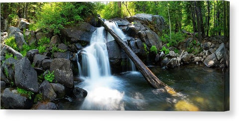 Secret Falls By Brad Scott - Canvas Print-Lake Tahoe Prints