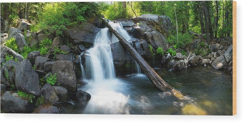 Secret Falls By Brad Scott - Wood Print