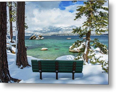 Sit And Relax By Brad Scott - Metal Print