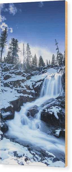 Snowy Falls By Brad Scott - Wood Print