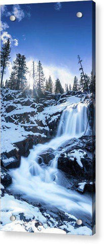 Snowy Falls By Brad Scott - Acrylic Print-Lake Tahoe Prints