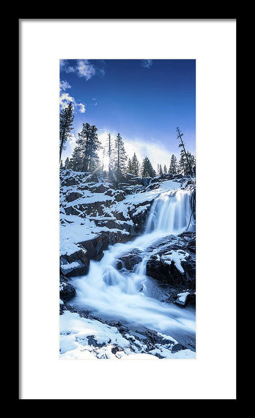 Snowy Falls By Brad Scott - Framed Print