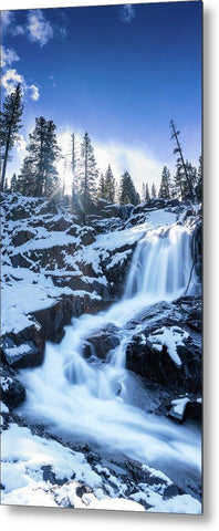 Snowy Falls By Brad Scott - Metal Print