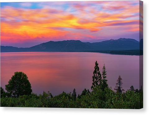 South Lake Tahoe Sunset By Brad Scott - Canvas Print