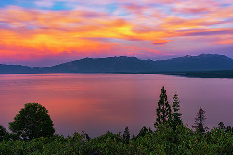 South Lake Tahoe Sunset By Brad Scott - Art Print