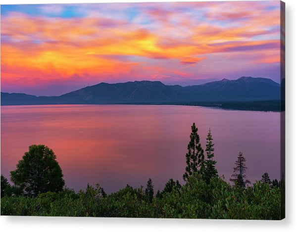 South Lake Tahoe Sunset By Brad Scott - Acrylic Print