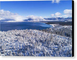 South Tahoe Winter Aerial By Brad Scott - Canvas Print-Lake Tahoe Prints