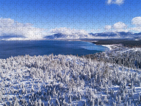 South Tahoe Winter Aerial by Brad Scott - Puzzle